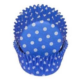Blue Polka Dot Standard Baking Cups