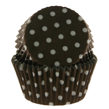 Brown With White Dots Standard Baking Cups