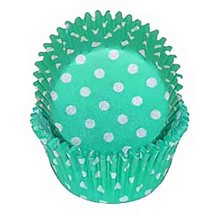 Teal Green Polka Dot Standard Baking Cups