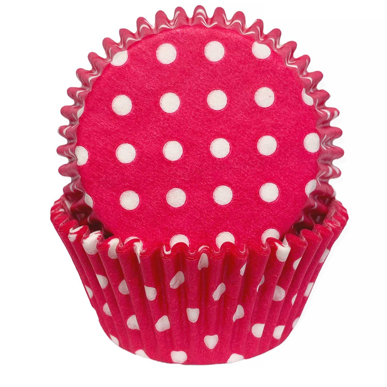 Pink Polka Dot Standard Baking Cups
