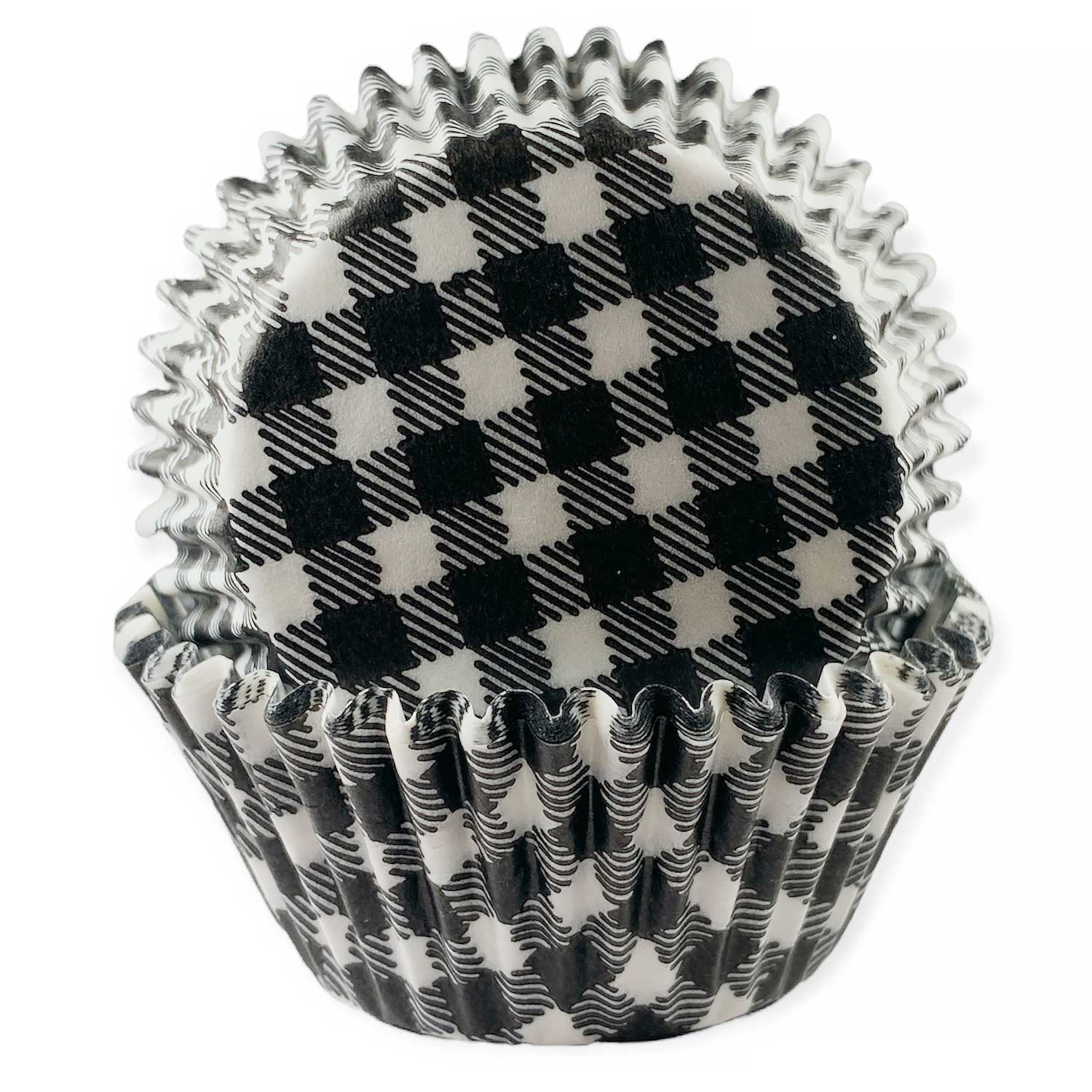 Black Gingham Standard Baking Cups