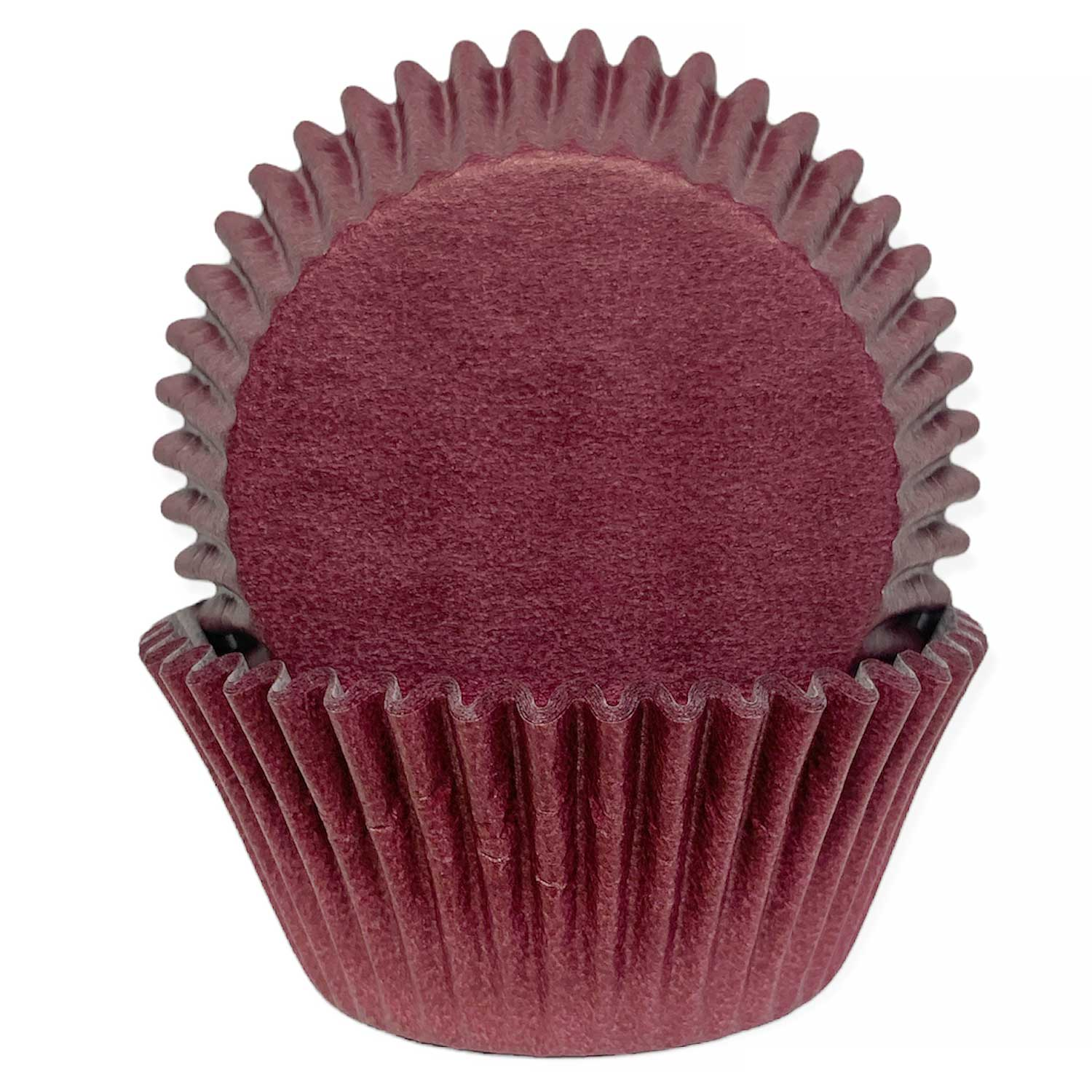 Solid Burgundy Standard Baking Cups
