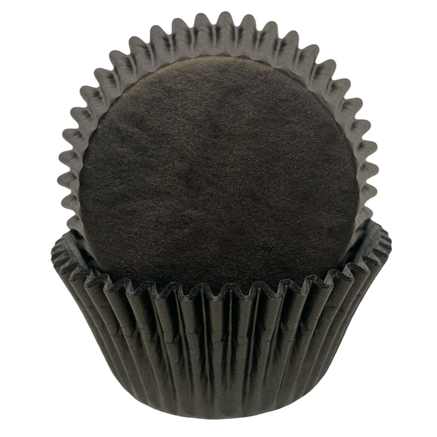 Solid Black Standard Baking Cups