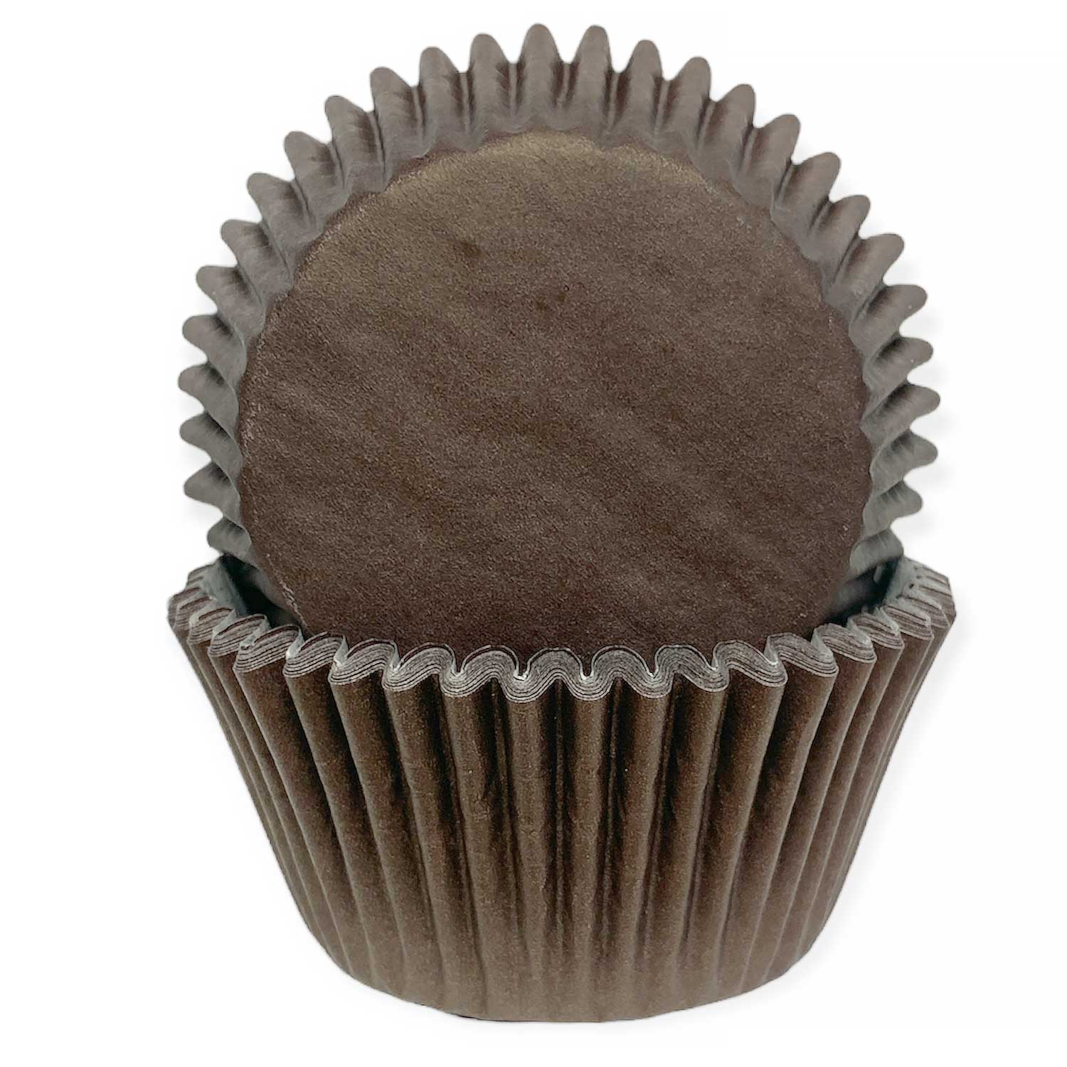 Solid Brown Standard Baking Cups