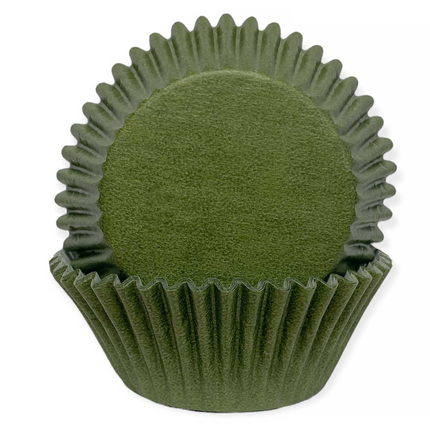 Solid Olive Standard Baking Cup