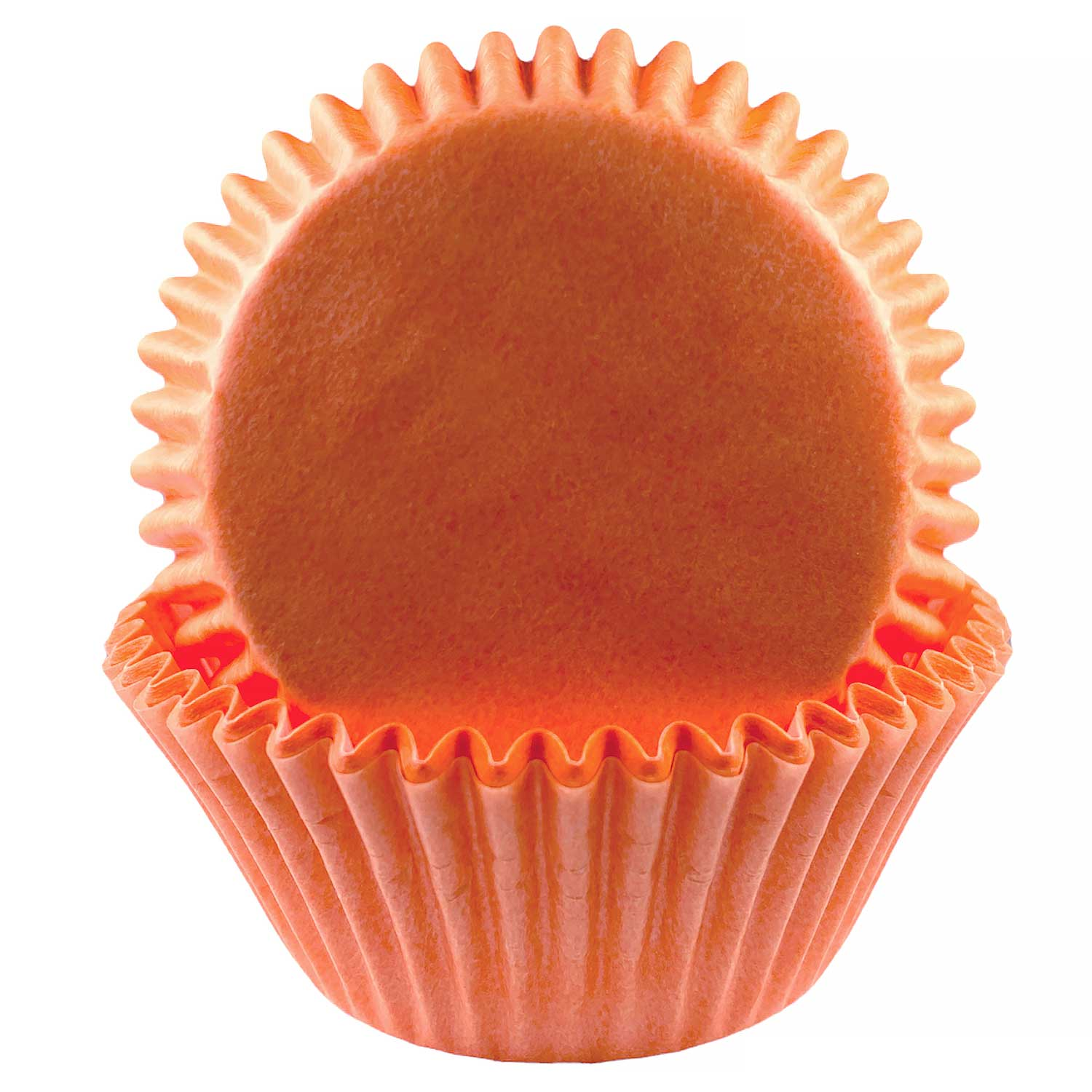 Solid Peach Standard Baking Cups