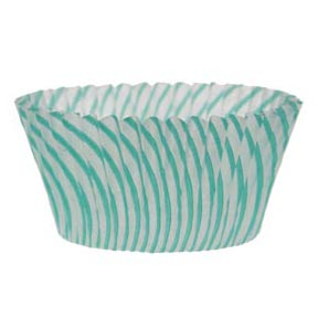 Turquoise Striped Standard Baking Cups