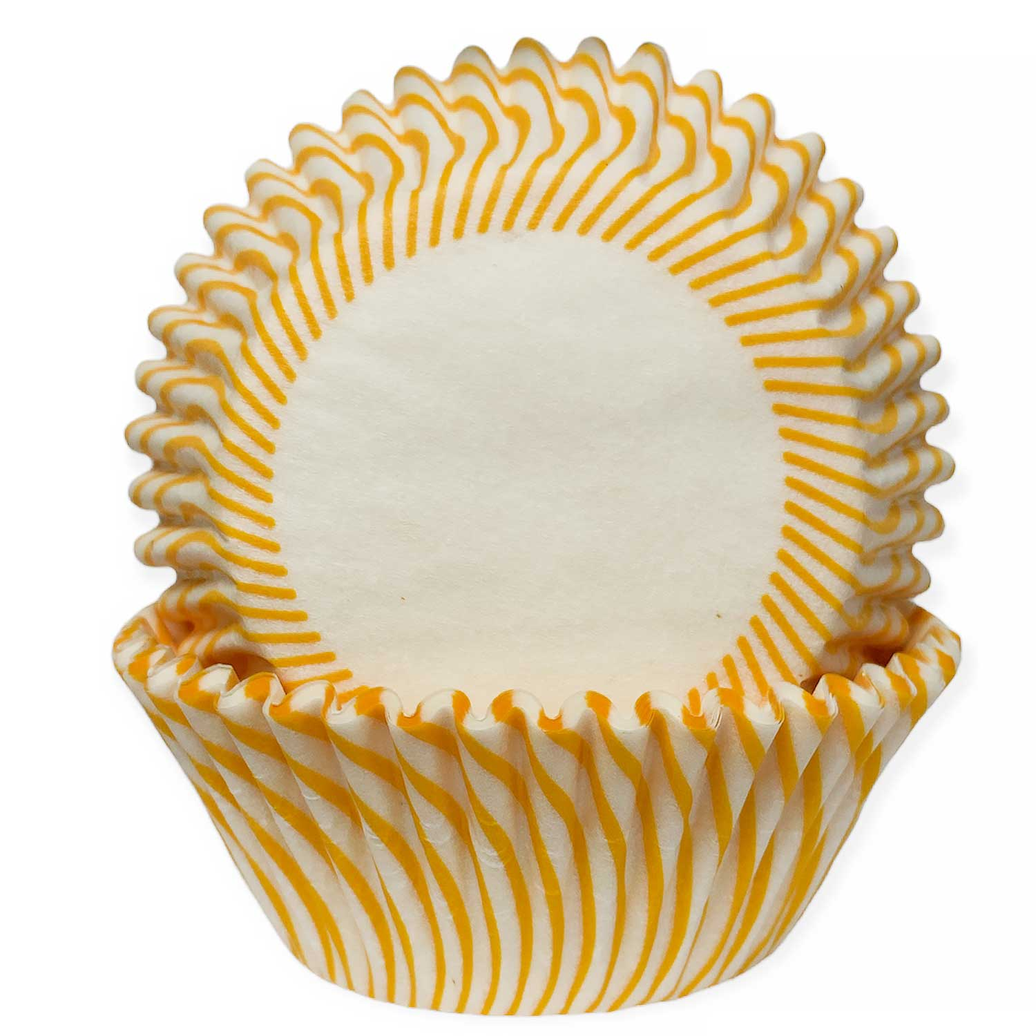 Yellow Striped Standard Baking Cups