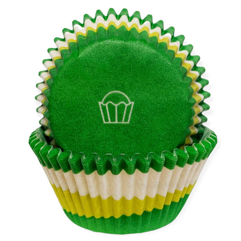 Green Swirl Standard Baking Cups