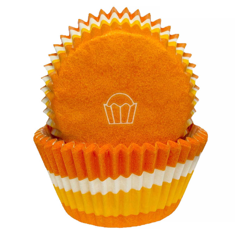 Orange Swirl Standard Baking Cups
