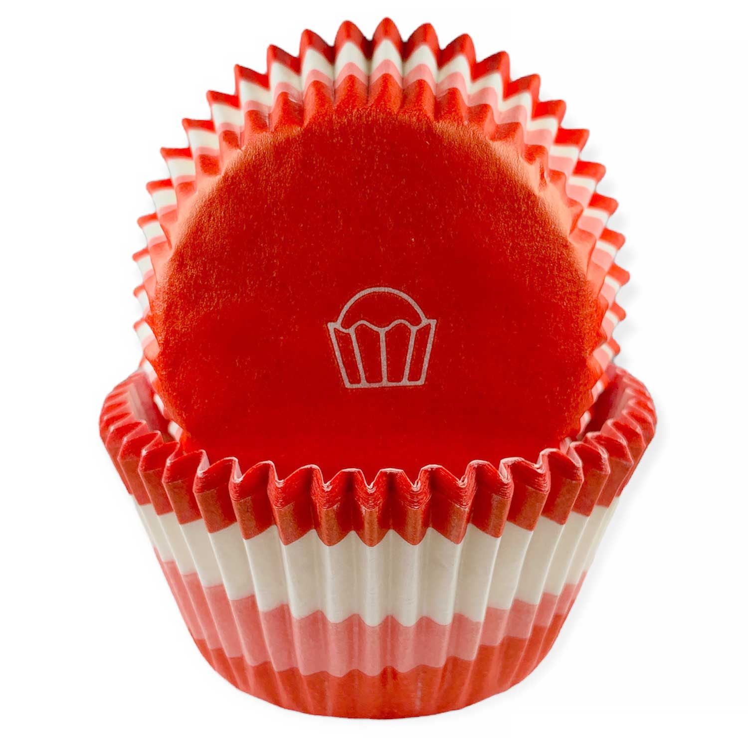 Red Swirl Standard Baking Cups