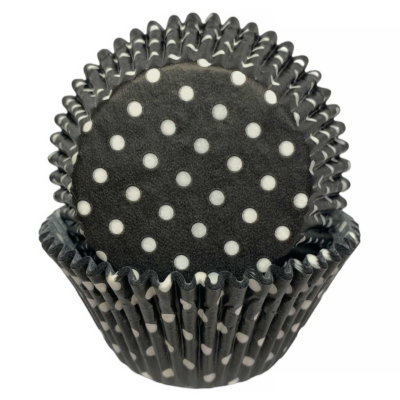 Black Dot Jumbo Baking Cups