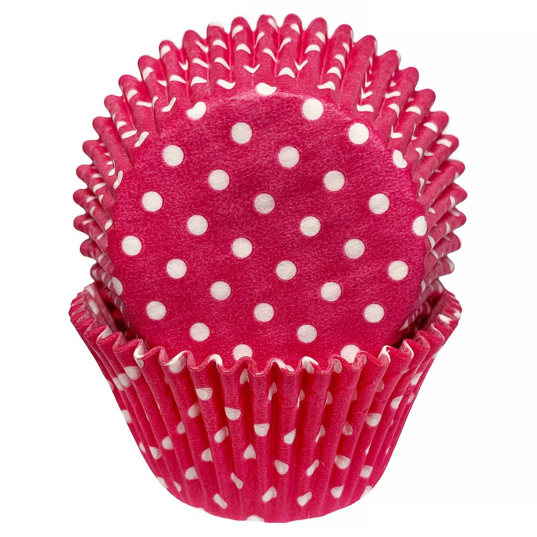 Hot Pink Dot Jumbo Baking Cups
