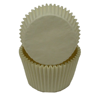 Off-White Jumbo Baking Cups