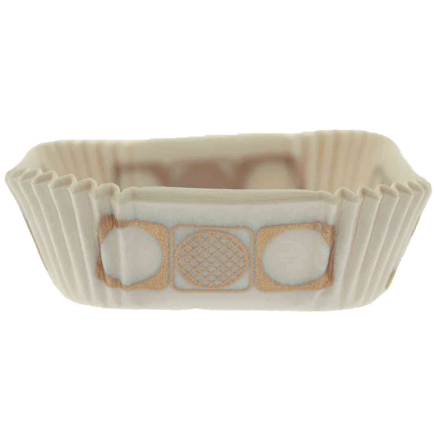 "White and Gold 2"" Square Candy Cups"