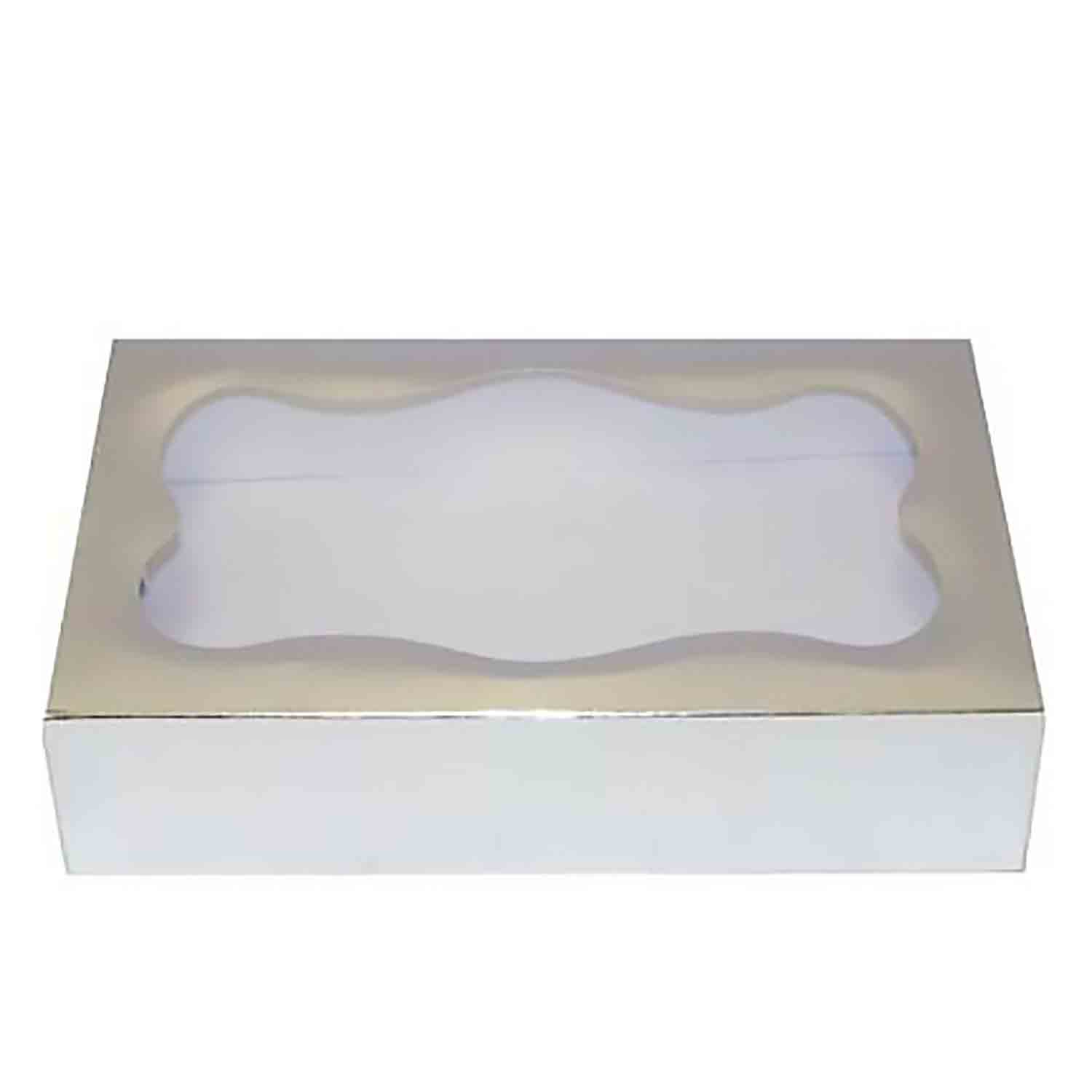 2 lb Silver Foil Cookie Box with Window