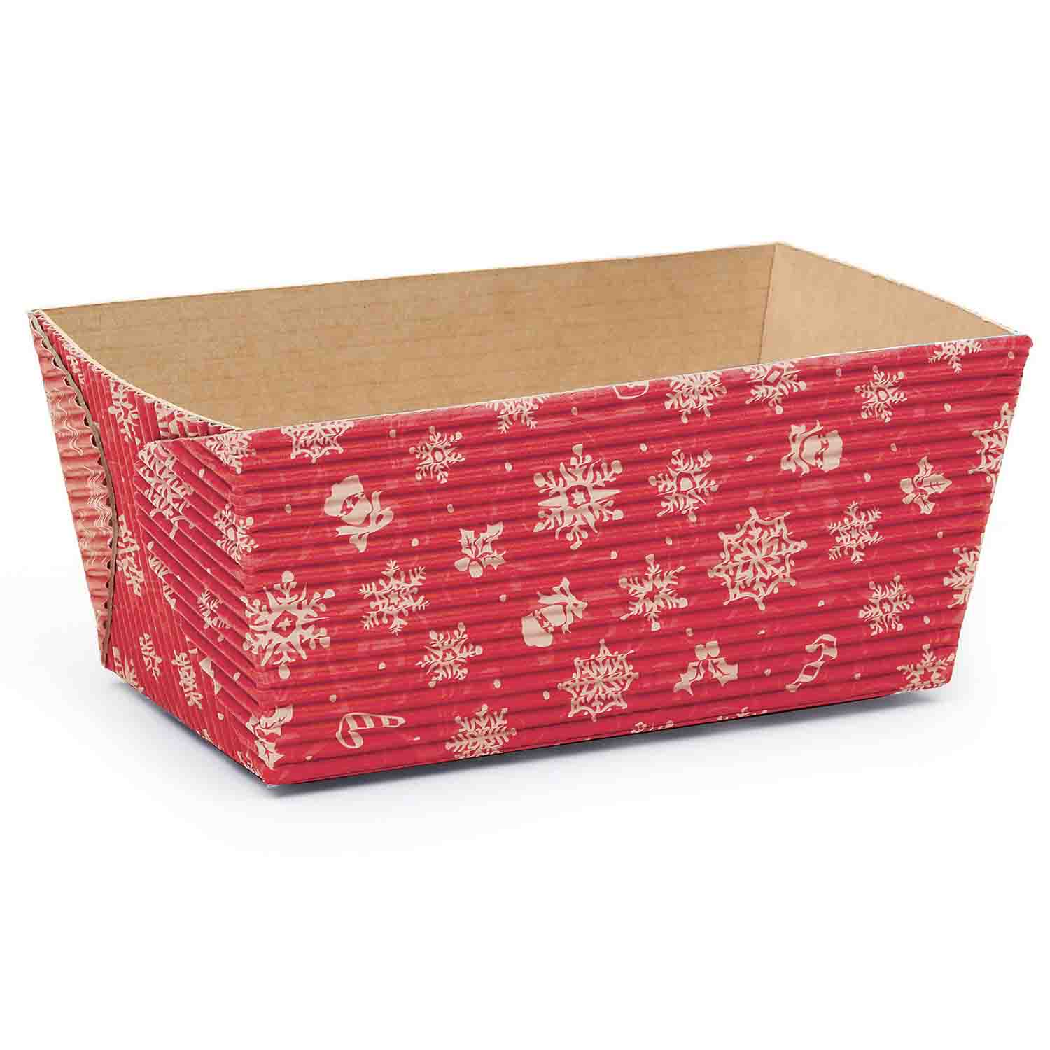 """Snowflake Disposable Loaf Pans 4.5"""""""
