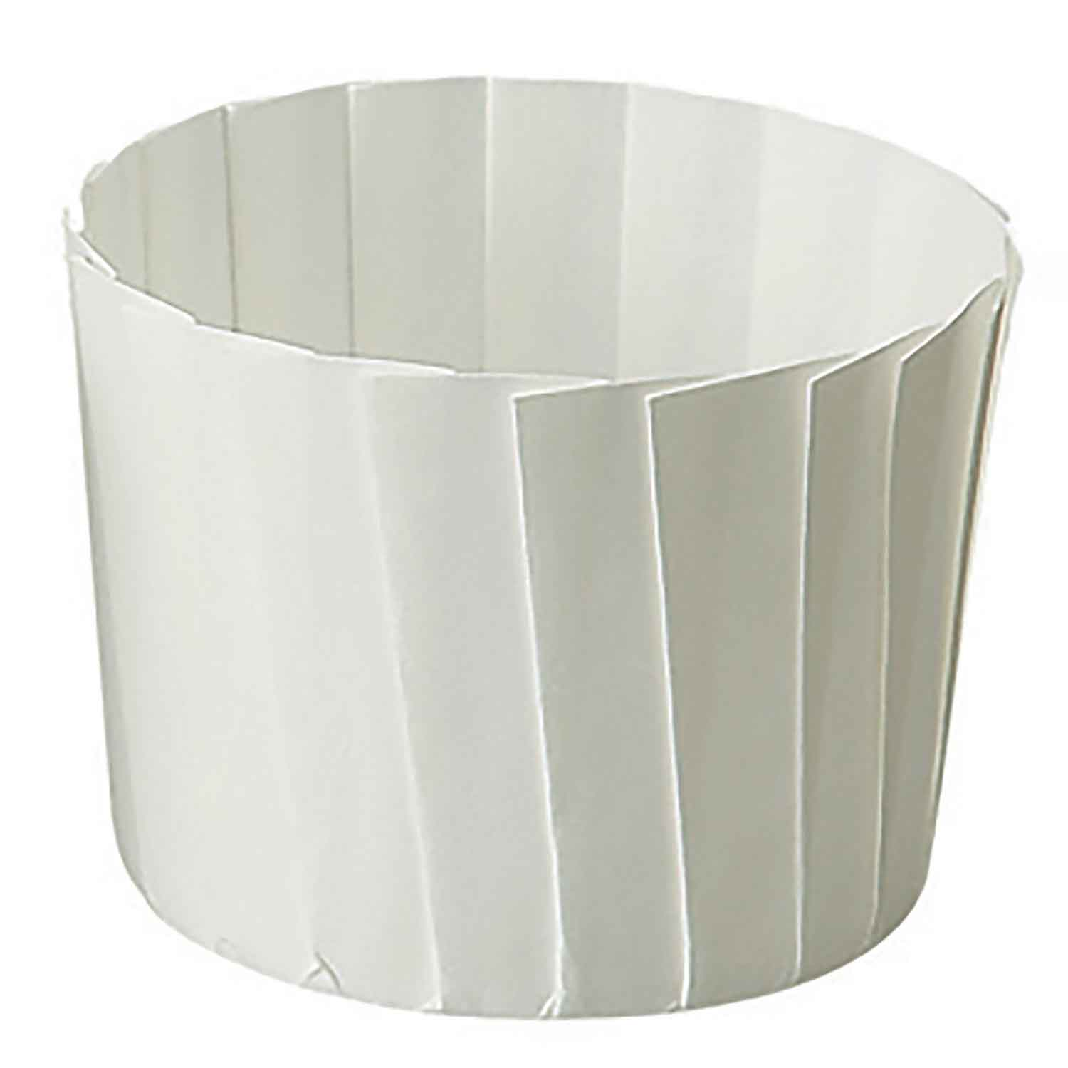 Pleated White Baking Cups