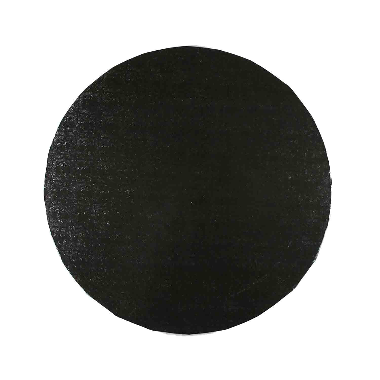 """10"""" Round Black Foil Cake Drum"""