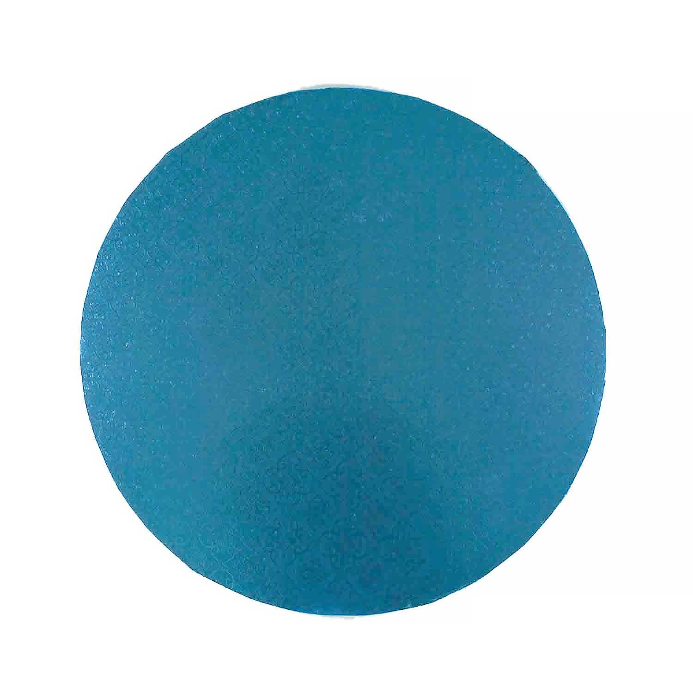 """10"""" Round Blue Foil Cake Drum"""