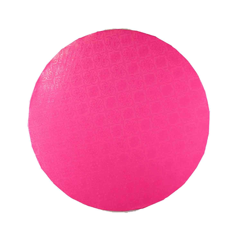 "10"" Round Pink Foil Cake Drum"