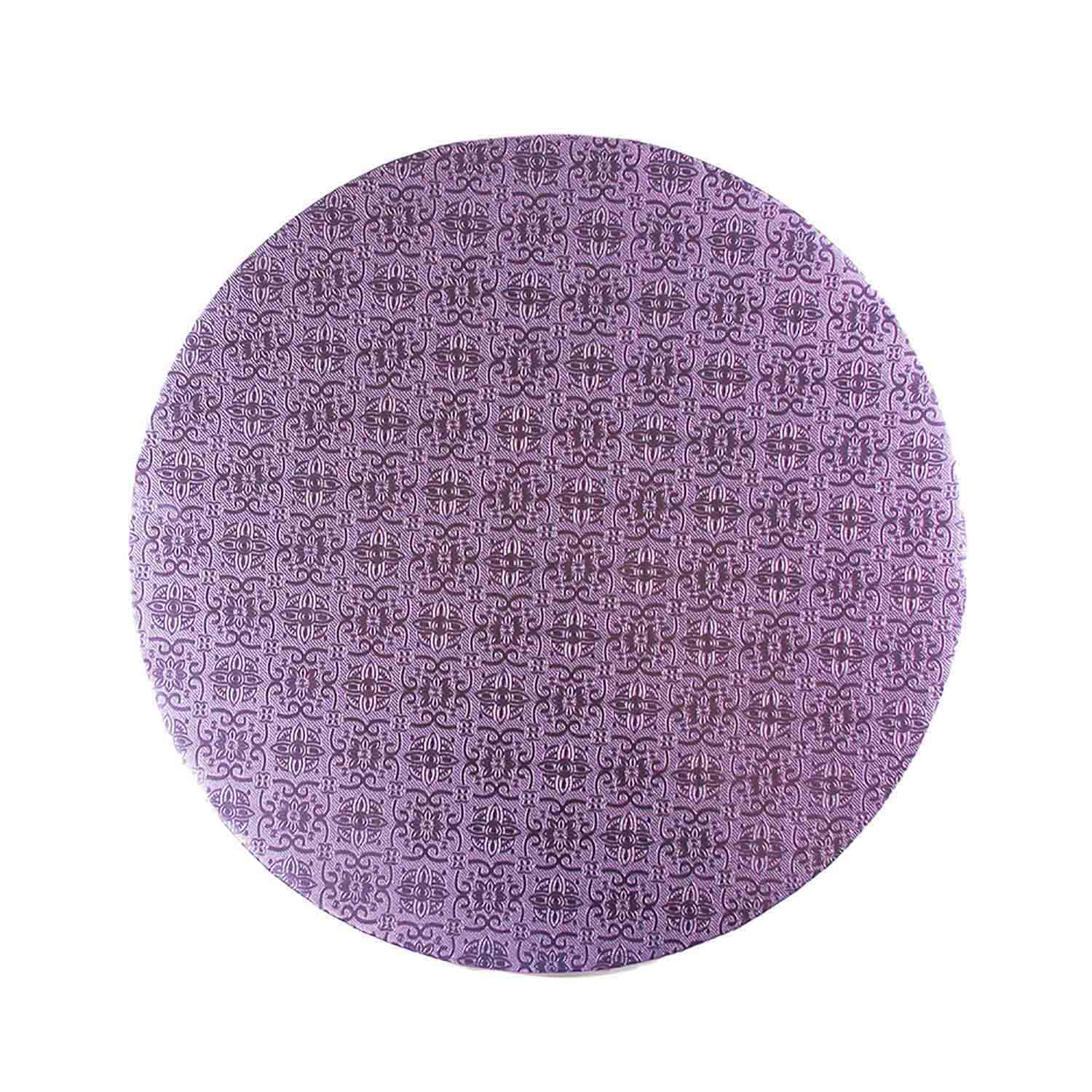 "16"" Round Lilac Foil Cake Drum"