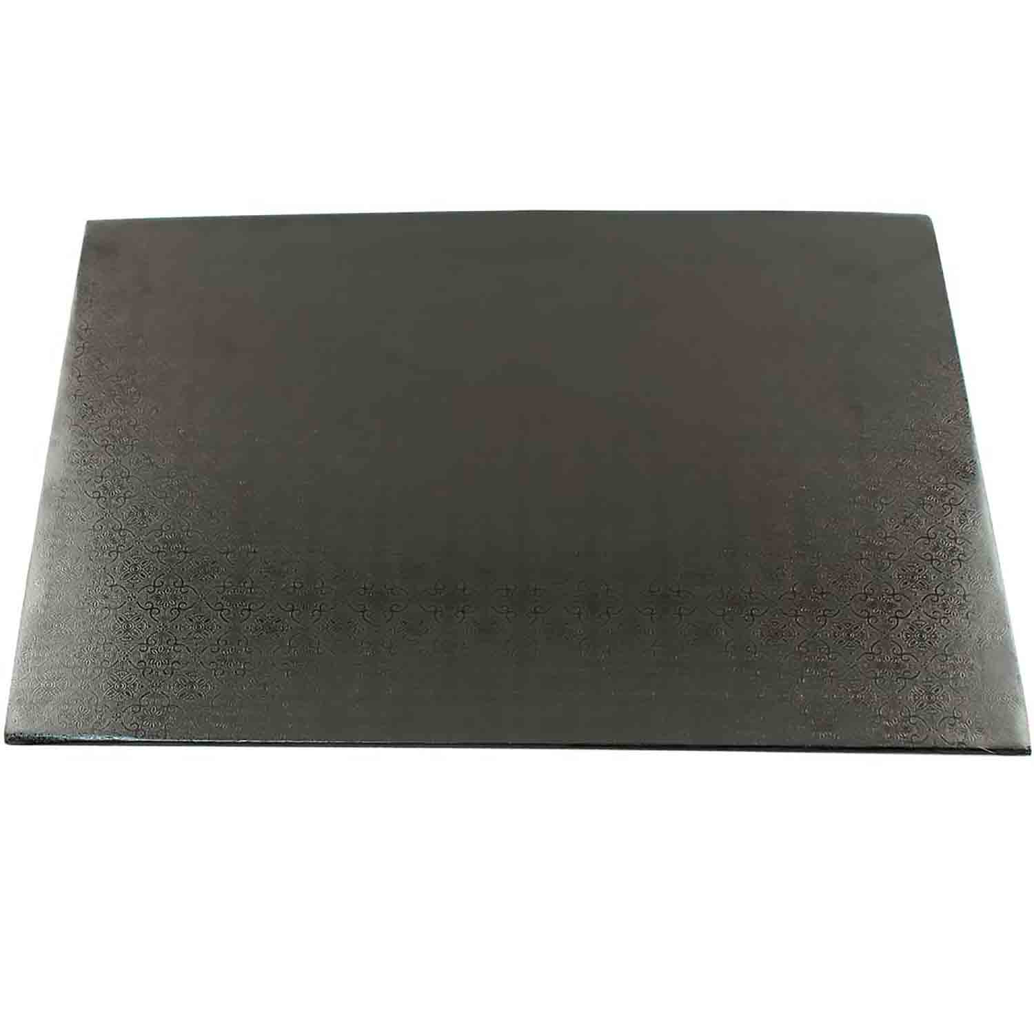 "14"" x 19"" Rectangle Black Half Sheet Cake Drum - ¼"" Thick"