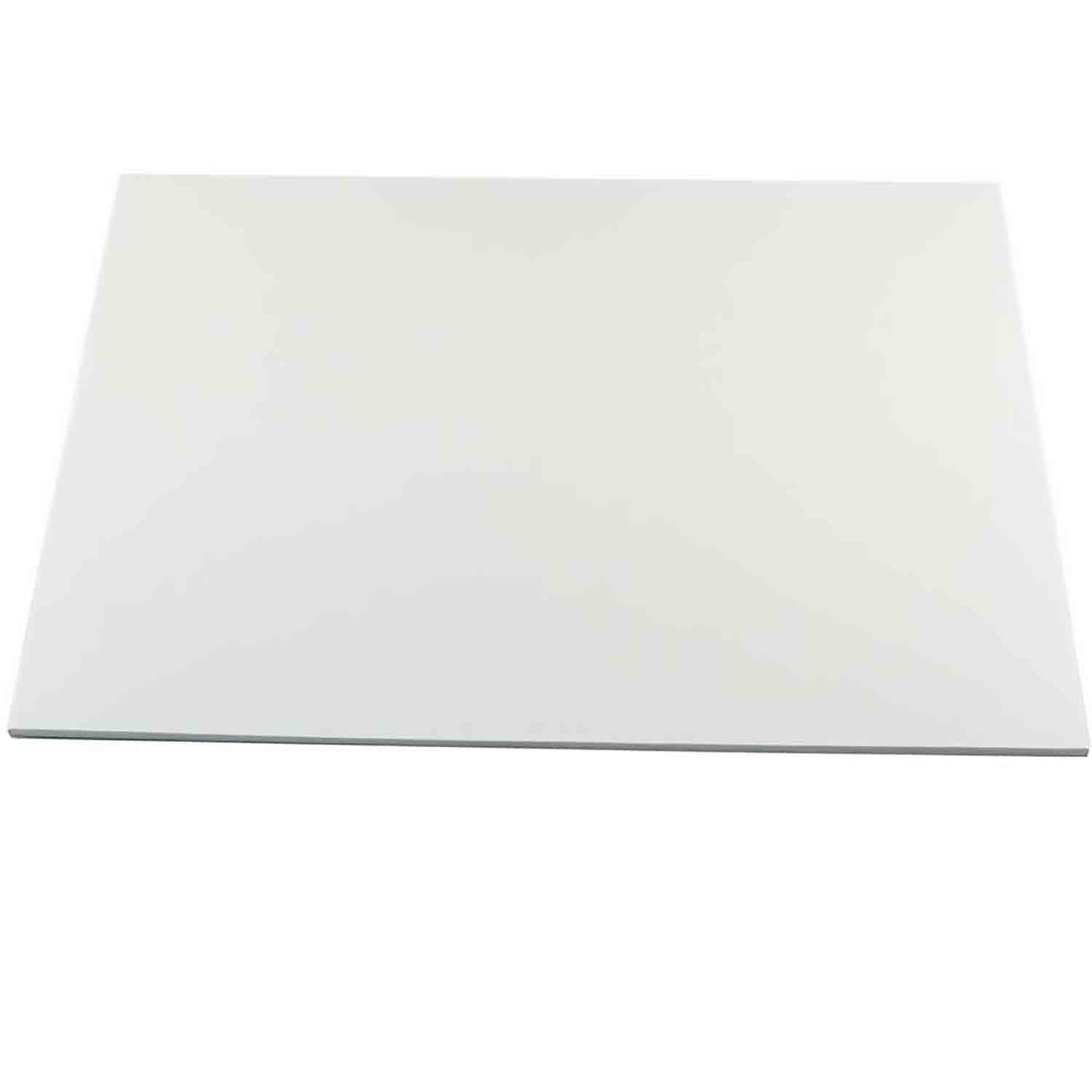 "14"" x 19"" Rectangle White Half Sheet Cake Drum - ¼"" Thick"