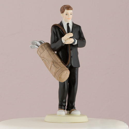 Golf Fanatic Groom Cake Topper - BRIDE SOLD SEPARATELY