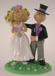 Comical Bride and Groom Cake Topper