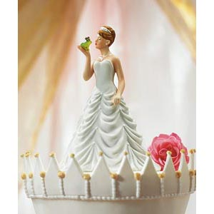 Princess Bride Kissing Frog Cake Topper