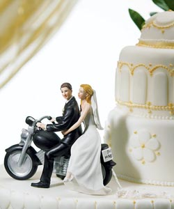 Motorcycle Couple Cake Topper