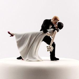 Romantic Dip Couple Cake Topper