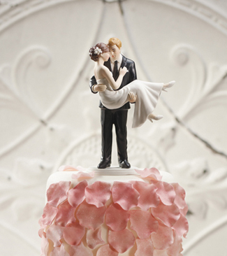 Swept Up In His Arms Couple Wedding Cake Topper