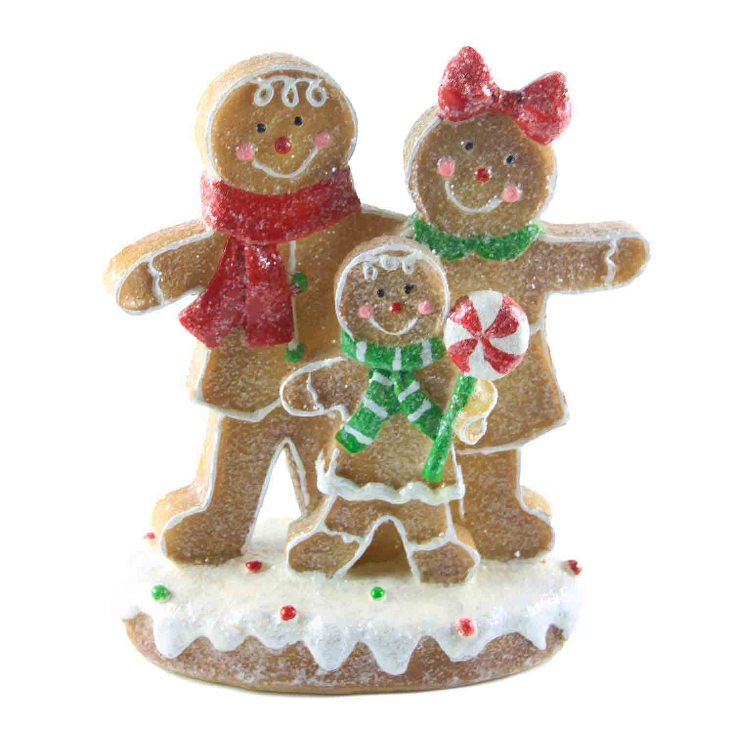 Resin Gingerbread Family