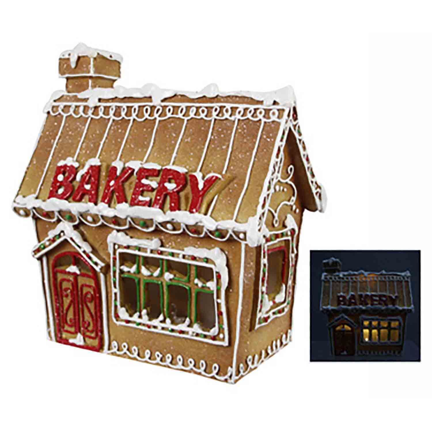 LED Resin Gingerbread House