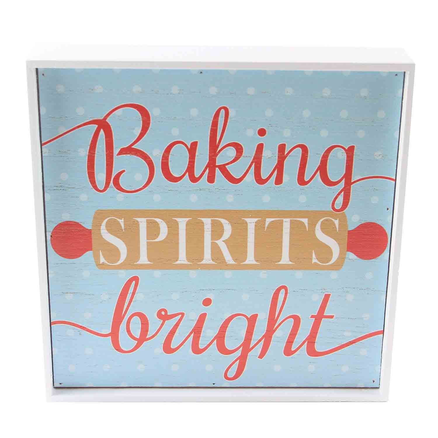 Baking Spirits Bright Box Sign