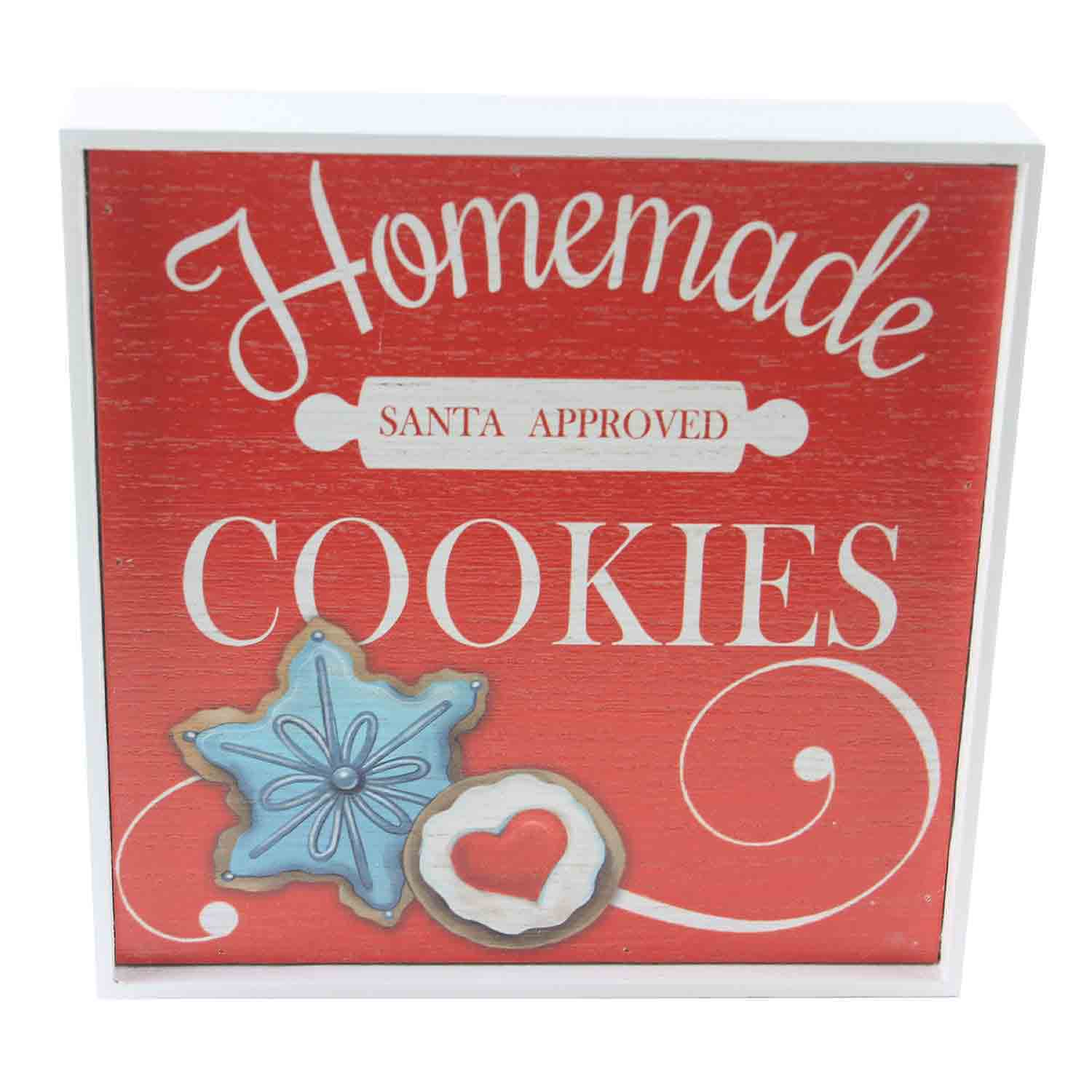 Santa Approved Homemade Cookies Box Sign