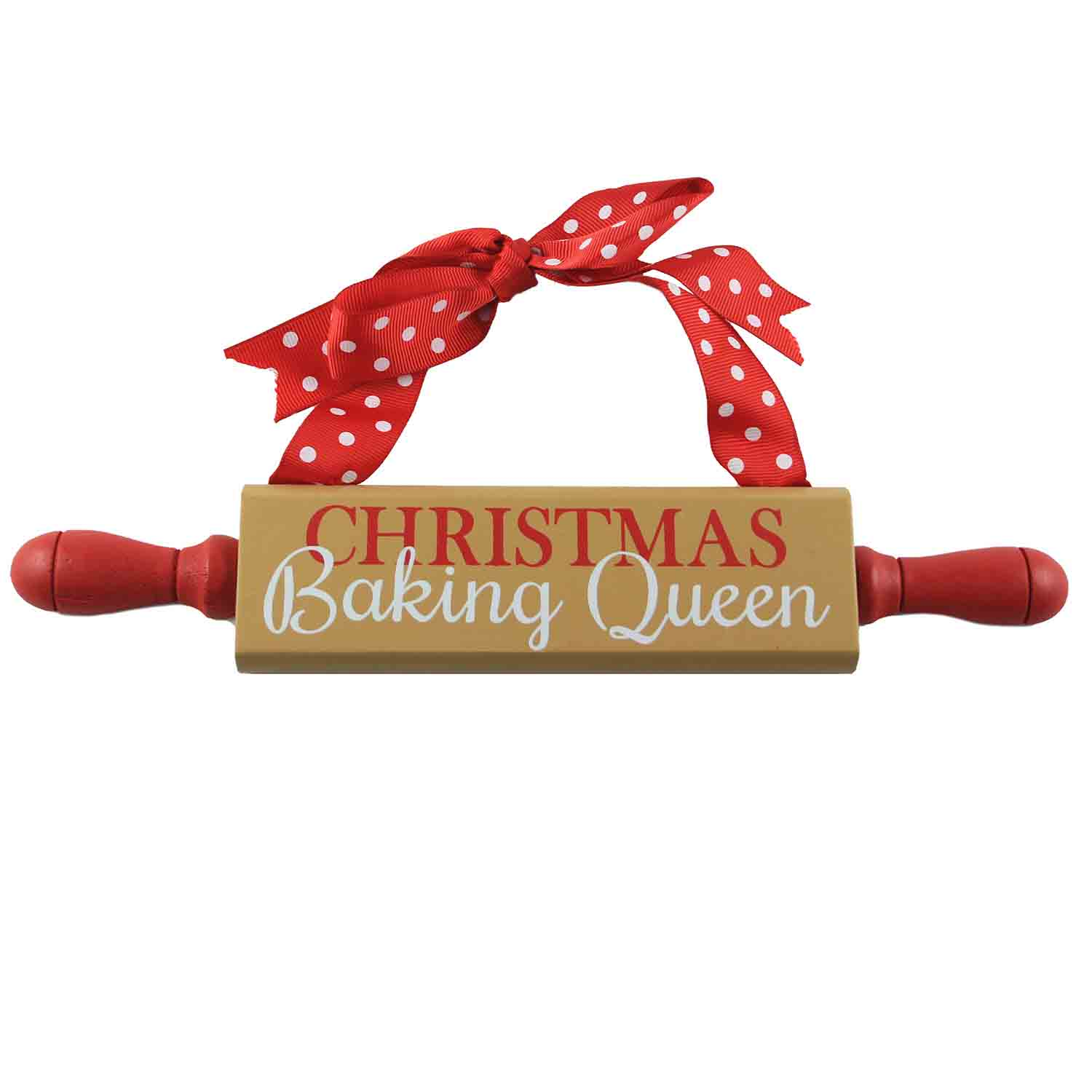 Christmas Baking Queen Rolling Pin Sign