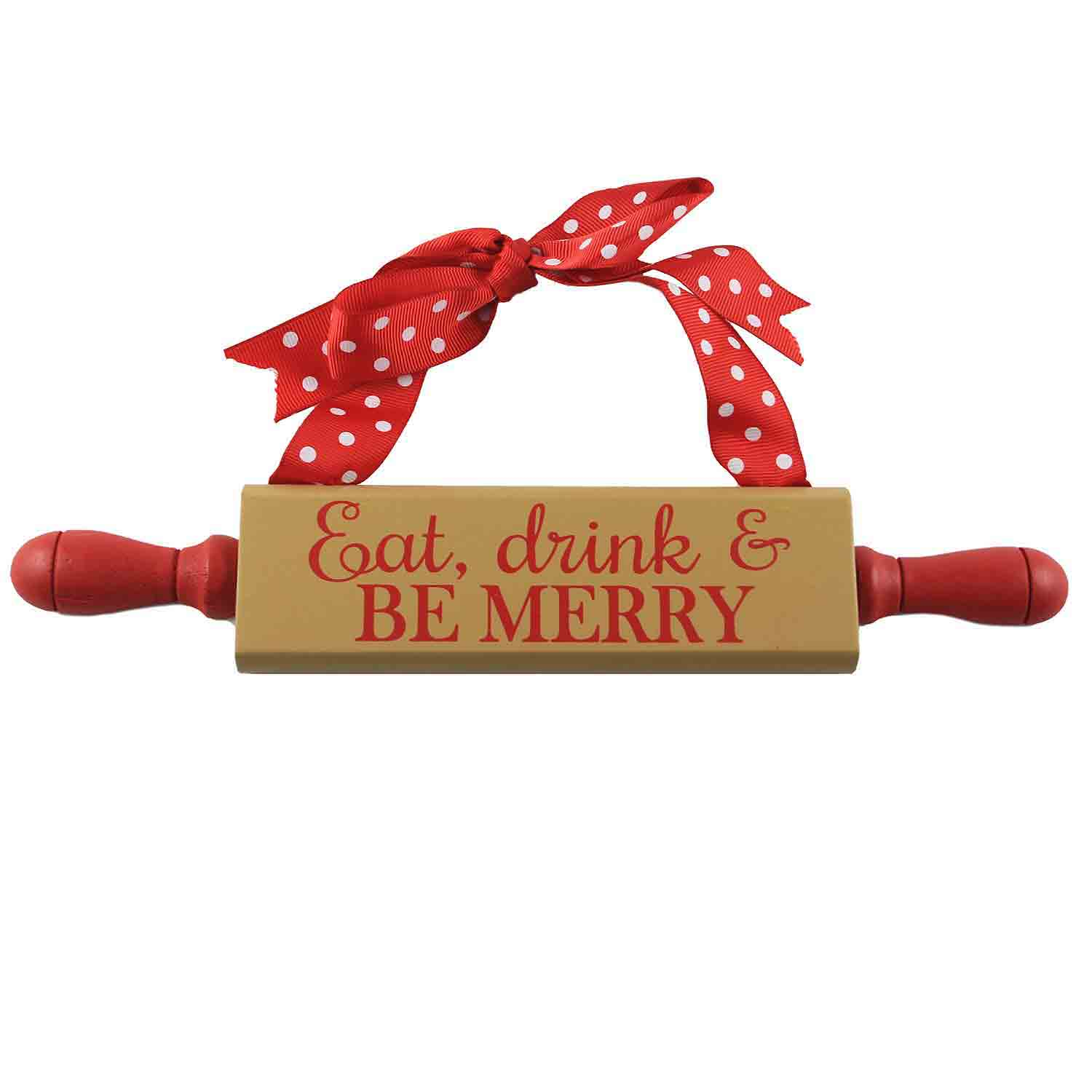 Be Merry Rolling Pin Sign