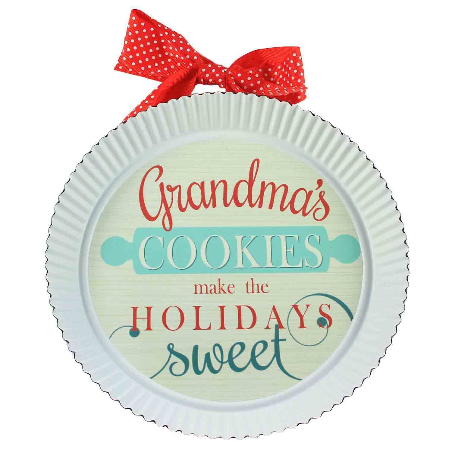 Grandma's Cookies Pie Tin Sign