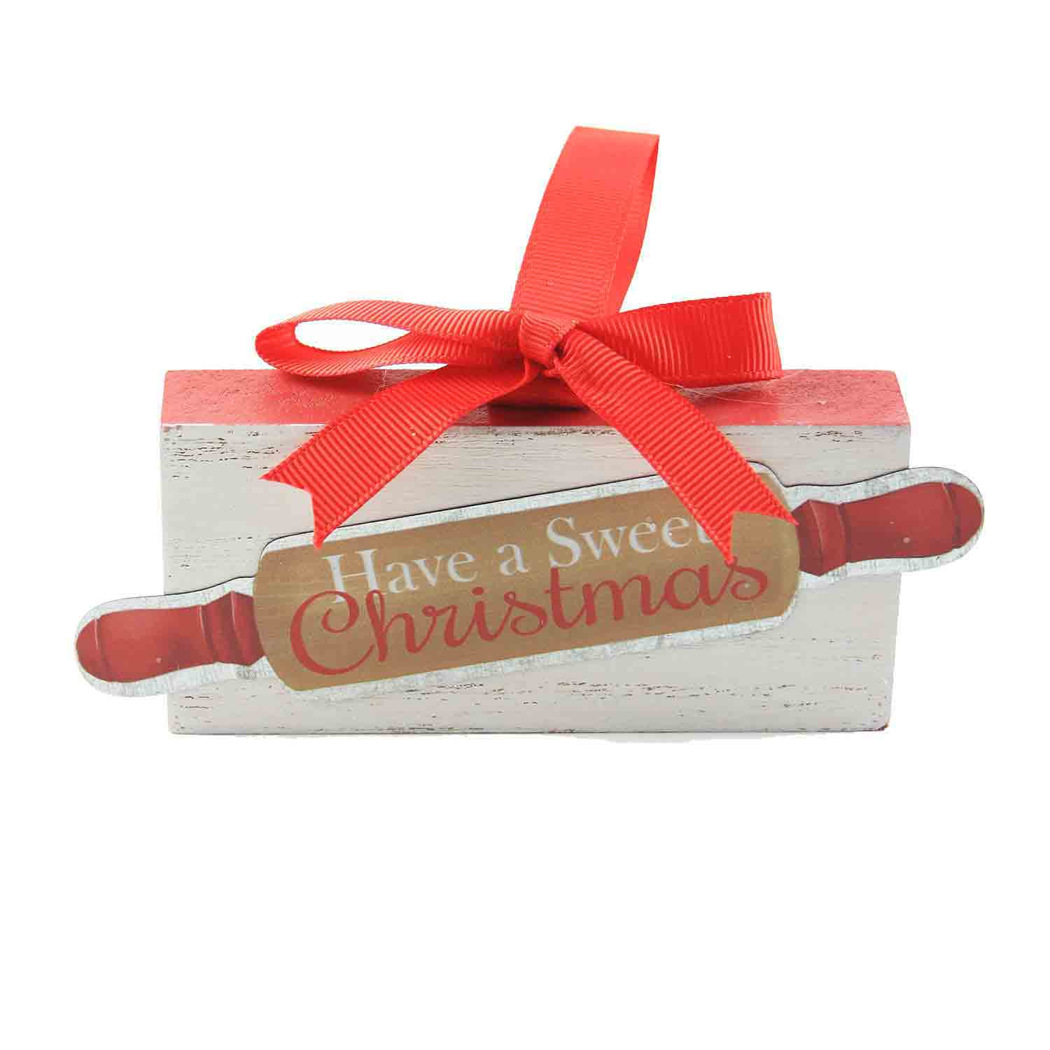 Wooden Block Rolling Pin Ornament