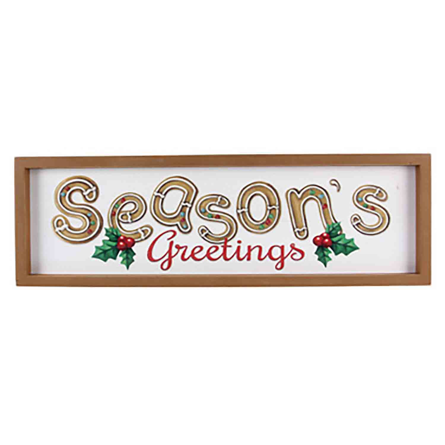 Season's Greetings Wall Sign