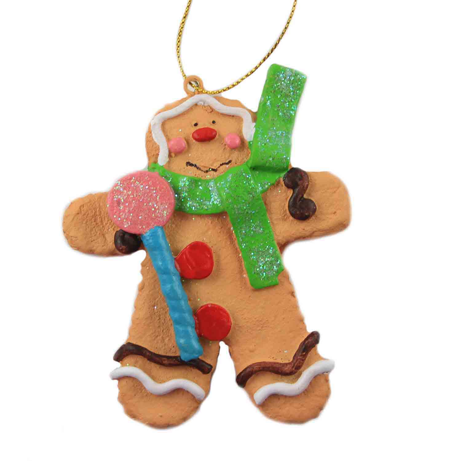 Gingerbread Boy with Sucker Ornament