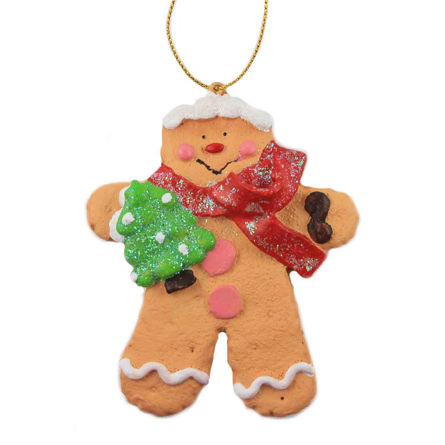 Gingerbread Boy with Tree Ornament