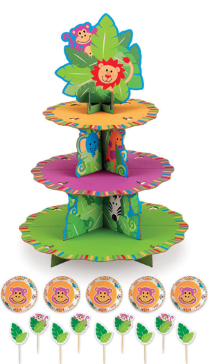 Jungle Pals Cupcake Stand Kit (Holds 24)