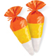 Candy Corn Shaped Cello Bags