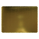 "19"" x14"" Gold Corrugated Rectangle Cake Cardboards"