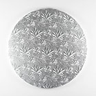 "12"" Round Silver Foil Cake Drum"