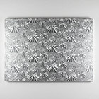 "10"" x 14"" Rectangle Silver Foil Quarter Sheet Cake Drum"